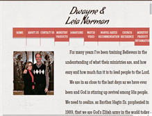 Tablet Preview of dwaynenormanministries.org